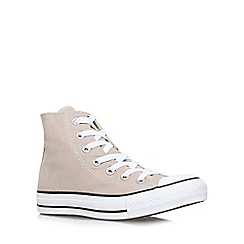Converse - Beige 'CT hi seas' flat lace up hi tops trainers