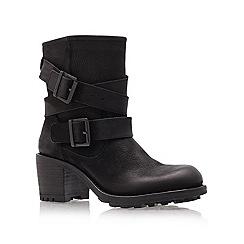 Carvela - Black 'Shower' mid heel ankle boots