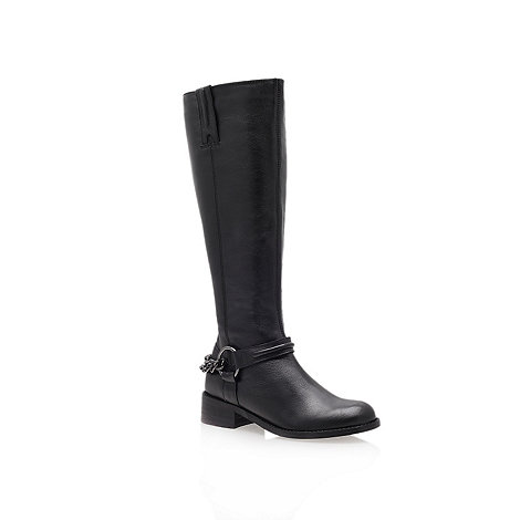 Carvela - Black +paula+ low heel knee boots