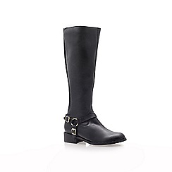 Carvela - Black 'Petra' leather low heeled boots
