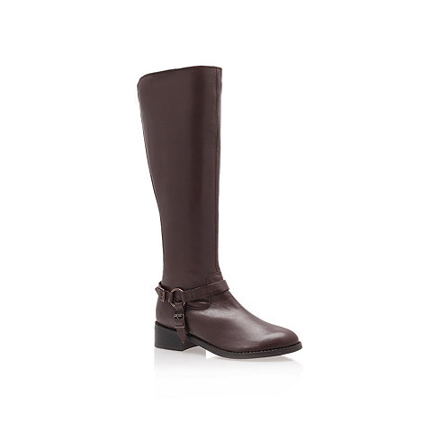 Carvela - Brown 'petra' low heel knee boots