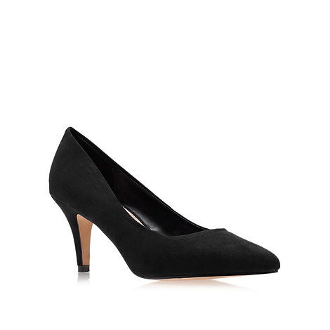 Carvela - Black +Kairo+ Mid Heel Court Shoes