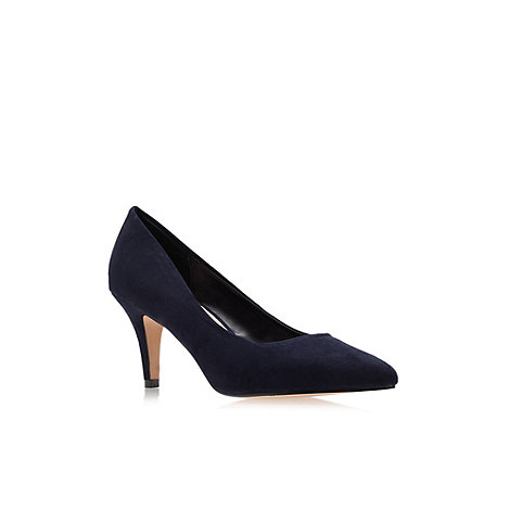 Carvela - Navy +Kairo+ Mid Heel Court Shoes