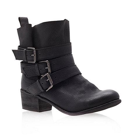 Carvela - Black +terri+ low heel multi buckle ankle boots
