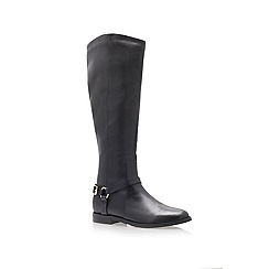 KG Kurt Geiger - Black 'Victory' Flat Riding Boots