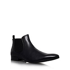 KG Kurt Geiger - Black 'brando' flat leather chelsea boots