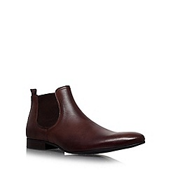 KG Kurt Geiger - Brown 'brando' flat leather chelsea boots