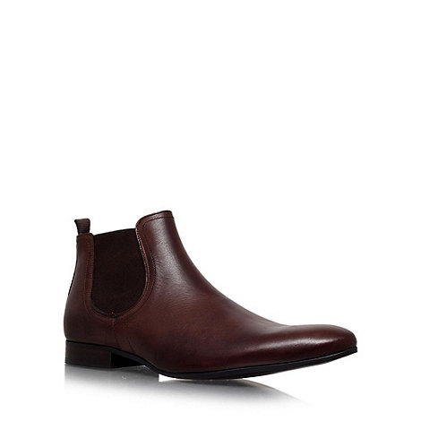 KG Kurt Geiger - Brown +brando+ flat leather chelsea boots