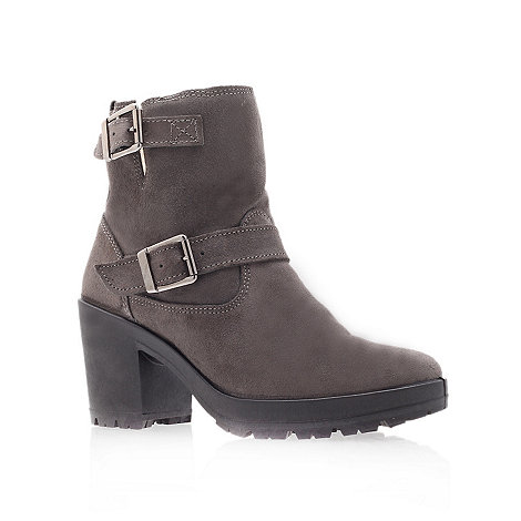Miss KG - Miss KG Harry grey mid heel ankle boots