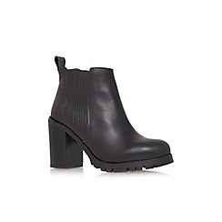 KG Kurt Geiger - Black 'Star' high heel ankle boots