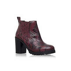KG Kurt Geiger - Red 'Star' high heel ankle boot