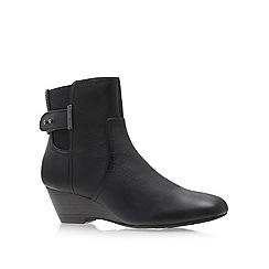 Anne Klein - Black 'damalis' wedged ankle boots