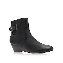 Anne Klein - Black 'damalis' wedged ankle boots