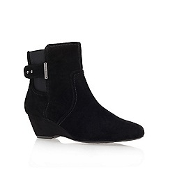 Anne Klein - Black ' Damalis ' wedged ankle boots