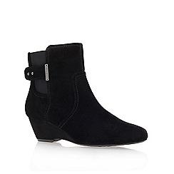Anne Klein - Black ' Damalis ' wedged ankle boots