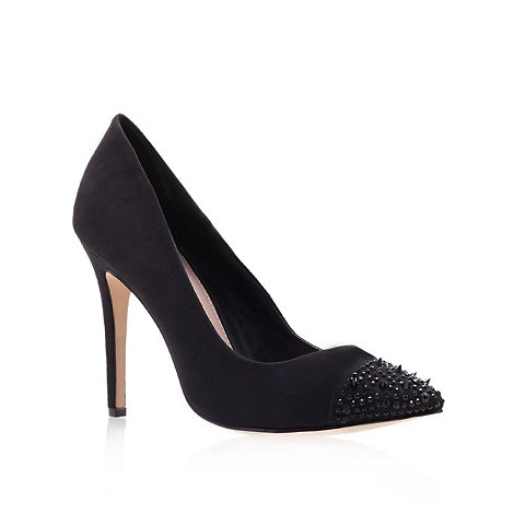 Carvela - Black +lacey+ high heel court shoes