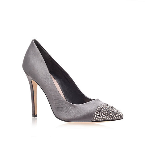 Carvela - Pewter +Lacey+ high heel pointy courts with stud detail