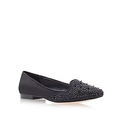 Carvela - Black 'macy' flat embellished slipper shoes