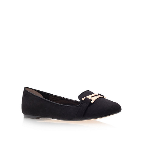 Carvela - Black +Mauve+ Flat Court Shoes