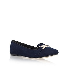 Carvela - Navy 'mauve' flat slipper shoes