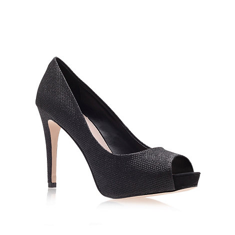 Carvela - Black +laqra+ high heel peep toe shoes