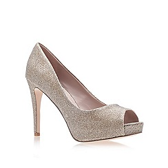 Carvela - Gold 'lara' high heel court shoes