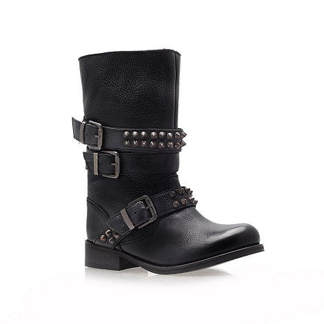 Carvela - Black +Tasha+ studded leather flat boots