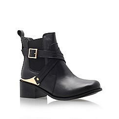 Carvela - Black 'Teddy' leather flat ankle boots
