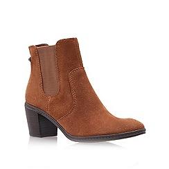 Anne Klein - Tan ' Bunty ' Mid Heel Ankle Boots