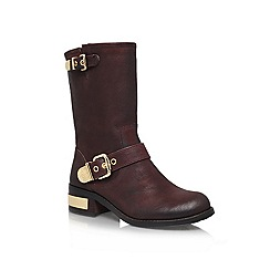 Vince Camuto - Brown 'Winchell' low heel boots