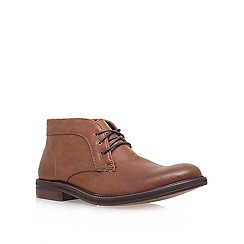 KG Kurt Geiger - Tan 'jeff' flat lace-up boots