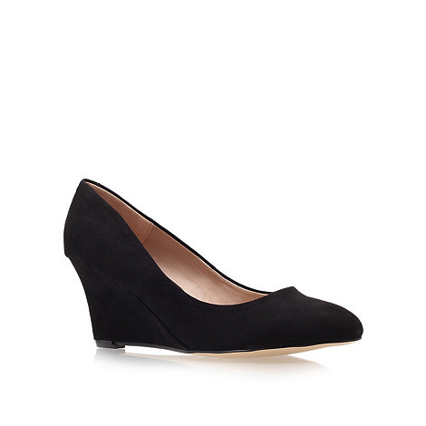 Carvela - Black +krissy+ wedge heel court shoes