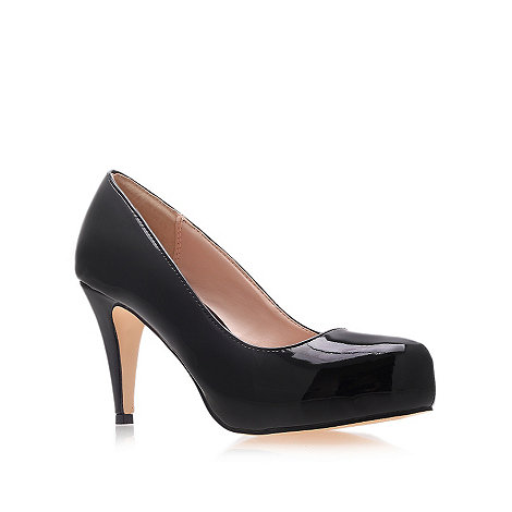 Carvela - Black patent +another+ high-heel court shoes