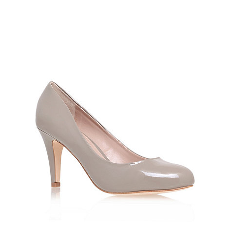 Carvela - Brown +antelope+ mid heeled court shoe