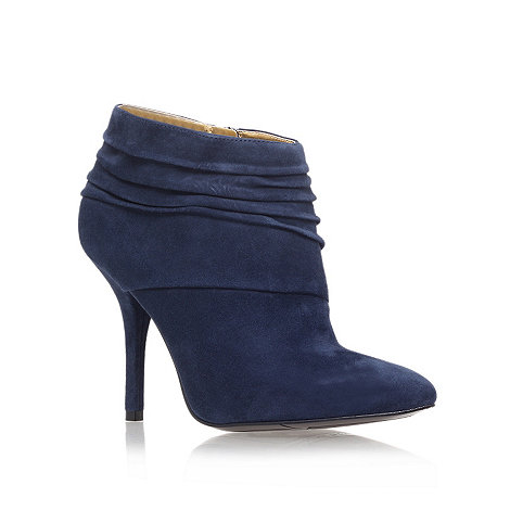 Nine West - Navy +junette+ high heel ankle boots