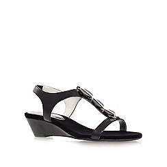 Anne Klein - Black 'dustee' low heel wedge sandals