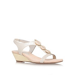 Anne Klein - Gold 'dustee' low heel wedge sandals