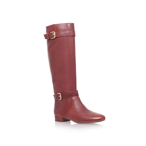 Nine West - Brown +punter n+ flat knee boots