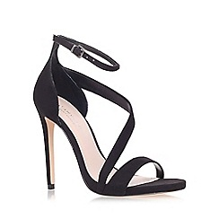 Carvela - Black 'gosh' mid heel sandals