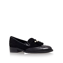 Carvela - Black 'louis' low heel loafer shoes