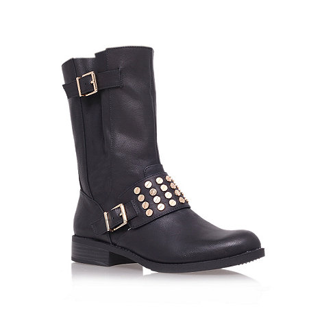 Jessica Simpson - Black +skylare+ low heel biker boots