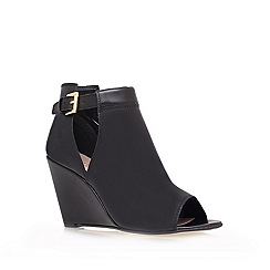 Carvela - Black 'small' high heel wedge ankle boots