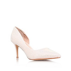 Carvela - Nude 'Gin' mid heel court shoes