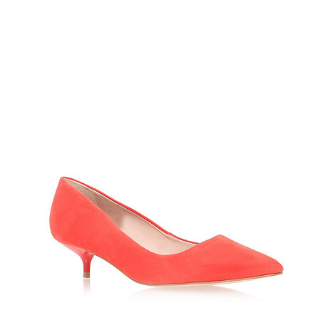 null - Orange +App+ low heel court shoes