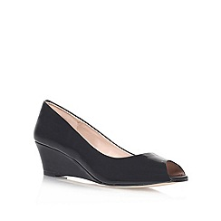 Carvela - Black 'Kim' mid heel wedge court shoes