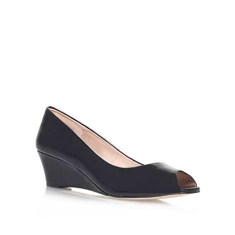 Carvela - Black +Kim+ mid heel wedge court shoes