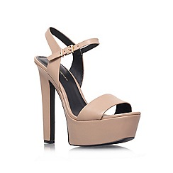 KG Kurt Geiger - Natural 'heidi' high heel platform sandals