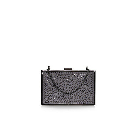 Carvela - Pewter +Daisy+ small box clutch bag