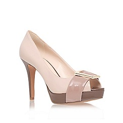 Nine West - Beige 'cassilina' high heel court shoes