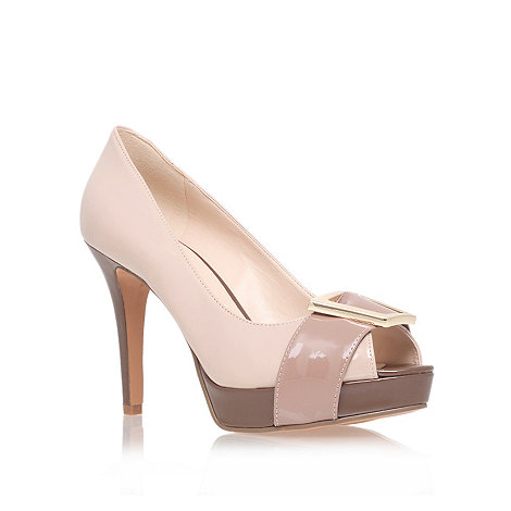 Nine West - Beige +cassilina+ high heel court shoes